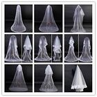 Best Choice long Lace Embroidery Edge fashion White wedding veil bridal veil new