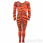 SALE! NEW ANIMAL PRINT LONG SLEEVE  CATSUIT/UNITARD TIGER/TIGGER - VARIOUS SIZES