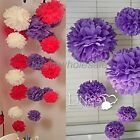 New Beautiful Tissue Paper Flower Ball Wedding Party Home Dector