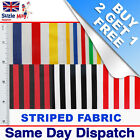 Striped  POLYCOTTON FABRIC Fat Quarters Polyester Cotton 22inch x 19.5inch