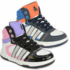 NEW BOYS TRAINERS KIDS ANKLE HI HIGH TOP GIRLS TRAINERS BOOTS SCHOOL SHOES SIZES
