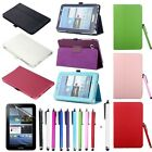 "New Folio Leather Case Stand Cover For Samsung Galaxy Tablet 2 7"" P3100 + Stylus"