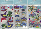 U CHOOSE  Jolee's HOLIDAY HATS FUN CROWNS JESTER HATS gems 3D Stickers