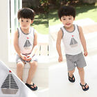 "2 Pcs Vaenait Baby Toddler Kids Outfits Homewear Sleeveless Top+Shorts ""Boat"""