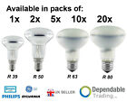 SPOT REFLECTOR LIGHT BULBS LAMPS R39 R50 R63 R80 - 25w 40w 60w 100w - SES ES BC