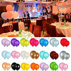 """12"""" INCH LATEX HELIUM BALLOONS PARTY WEDDING BIRTHDAY SUPPLIES AIR QUALITY 3.2G"""