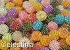 20 x Acrylic Berry Bead 15mm - Round Beads - PB62 - Colour Choices