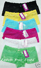 6 LACE BOYSHORTS PANTIES #99649P(YGWBPBl) LOT NEW SIZE S/5 M/6 L/7 XL/8