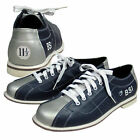 BSI Womens Leather Laced Rental Bowling Shoes Blue Silver Quality STOP RENTING