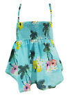 ANIMAL GIRL'S TURQUOISE FLOWER PRINT STRAPPY STRETCH WOVEN CAMI TOP NEW