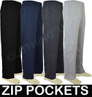 *FREE P&P** Mens Jogging Fleece Bottoms Joggers Casual Trousers Open Hem