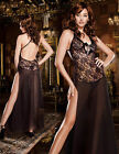 Black Nightgown Lingerie 130CM Long Babydoll Sleepwear Plus S M L XL XXL 3XL 4XL