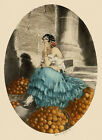 Icart Fashion Spain Art Deco Lady Fruits Vintage Poster Repro FREE SHIPPING