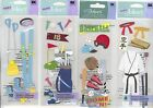 U CHOOSE  A Touch of Jolee's SKIING GOLFING KARATE BASEBALL 3D Stickers sports