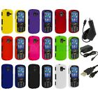 Color Hard Rubberized Case Cover+3X Chargers for Samsung Intensity 3 III U485