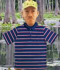 Adult TV Show Swamp People Troy Landry Alligator Costume Lucky Polo Shirt & Mask
