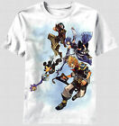 New Kingdom Hearts Video Game King Mickey Sora Terra Auqa T-shirt top flying