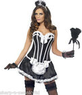 Ladies Sexy Corset Tutu French Maid Rocky Horror Fancy Dress Costume Outfit 8-18