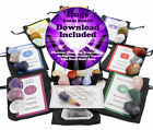 30 STONE ULTIMATE CHAKRA SET Crystal Healing Balancing Tumbled Reiki Wicca Kit