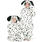 Girls Boys Deluxe Fur Dalmatian Dalmation Dog Animal Fancy Dress Costume Outfit