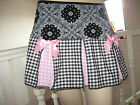 Goth,Punk, Black,White,Pink,Floral,Check,Rock Lolita Festival, Skirt-All sizes