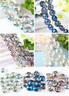 10pcs Rondelle Spacer Loose Beads Faceted Glass Crystal Finding 4 Colors 14MM