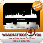 WANDTATTOO - HANNOVER, Stadt, Skyline, City, Silhouette - Nr723