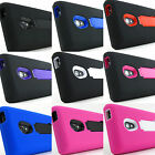 for LG Lucid 2 II VS870 V2 Heavy Duty Dual Layer Hybrid Case Cover + PryTool