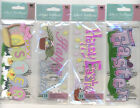 U CHOOSE  Jolee's HAPPY EASTER TITLE EASTER TITLE EASTER WHIMSEY 3D Stickers