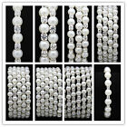 RetailNew Women's Pearl Styles Wedding Bridal Crystal Rhinestone Bracelet Bangle