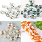 11x12MM 20/100 Faceted Glass Crystal Spacer Hexagon Bead Jewelry Makings