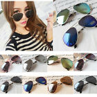 NEW Classic Aviator Women Mens Silver Mirrored Lens Brown Gold Black Sunglasses