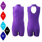 SALE NEW SLEEVELESS POLO NECK SHORT LEG UNITARD/CATSUIT DANCE/GYM/DISCO