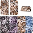 Leopard Cheetah Card Holder Wallet Case Cover for Samsung Galaxy Note 2 N7100