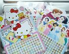 Mickey Minnie Mouse or Hello Kitty Stick-on Child's Earrings 56 pairs Party Bag