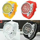 New Womens Ladies Casual Sports Top Silicone Quartz Battery Wrist Watch Watches