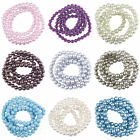 8mm 105pcs Faux Glass Pearl Jewelry Spacer Beads Fit DIY Bracelet Necklace Craft