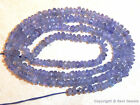 "TANZANITE 3mm diameter FACETED Rondelle 15.5"" Str 35Ct - Excellent Value"