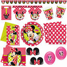 New Disney Minnie Mouse Fashion Polka Dots Party Supplies Tableware Decorations