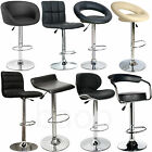 Bar Stools - Faux Leather Metal Base Kitchen Breakfast Stool Dining Room Chair