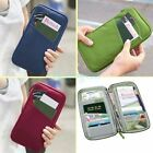 UK Travel Wallet With Full Closure Zip Document Organiser Passport Ticket Holder
