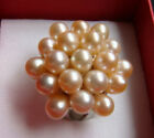 Genuine Pink Pearl Flower18KWGP Ring Size: 7.8.9