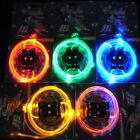 1 Pair Of LED Shoe Laces Light Up Flash Glow Neon Shoelaces Skating Shoestrings