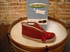Deer Stags Slipperooz Mutsy RED Microsuede Slipper Booties NEW