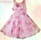 #P3211 Pinks Christmas Wedding Flowers Girls Party Dresses SIZE AGE 3-4-5-6-7-8Y