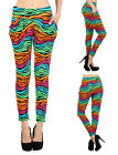 Women Sexy Rainbow Printed Harem Sweat Pants Baggy Trousers Leggings Pants