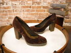 Matisse Jass Brown Crushed Velvet Lug Sole Pumps New