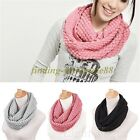 13Colors Knitted Hood Neck Circle Cowl Wool Scarf Shawl Wrap Loop Winter Warmer