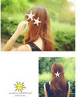 Hot 3 Size New Girls Pretty  Beige Natural Starfish Star Hairpin Clip Hairband