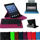 Rotating Removable Bluetooth Keyboard PU Leather Case Smart Cover for iPad mini